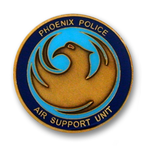 Phoenix Police Air Support Unit Challenge Coin - 1.56 inch, Antique Gold